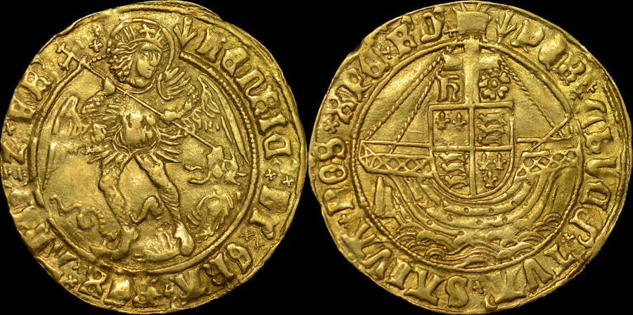 HENRY VII GOLD ANGEL, TYPE V