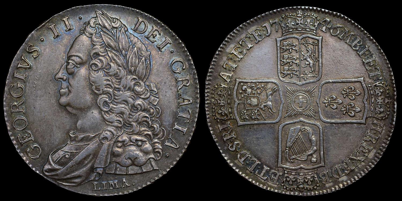 GEORGE II 1746 LIMA CROWN