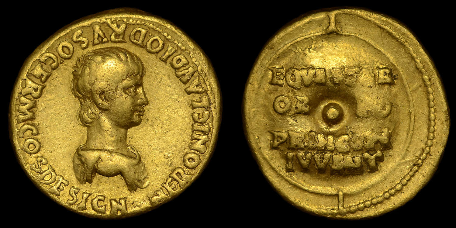NERO GOLD AUREUS, AS CAESAR UNDER CLAUDIUS
