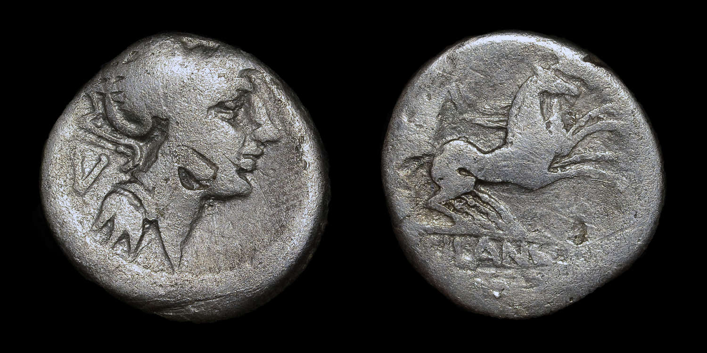 ROMAN REPUBLICAN COINAGE, D. JUNIUS L.F. SILANUS, SILVER DENARIUS