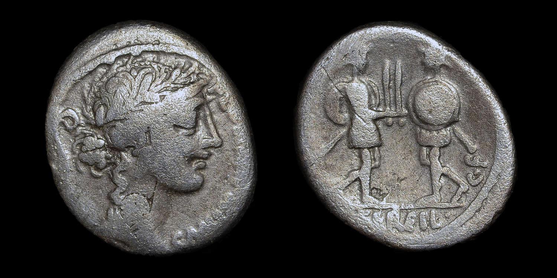 ROMAN REPUBLICAN COINAGE, C. SERVILIUS C.F. SILVER DENARIUS