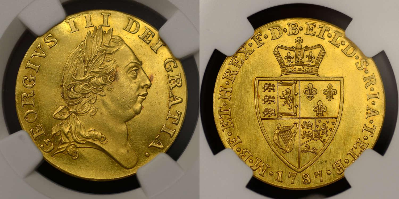 GEORGE III, 1787 PROOF GOLD GUINEA