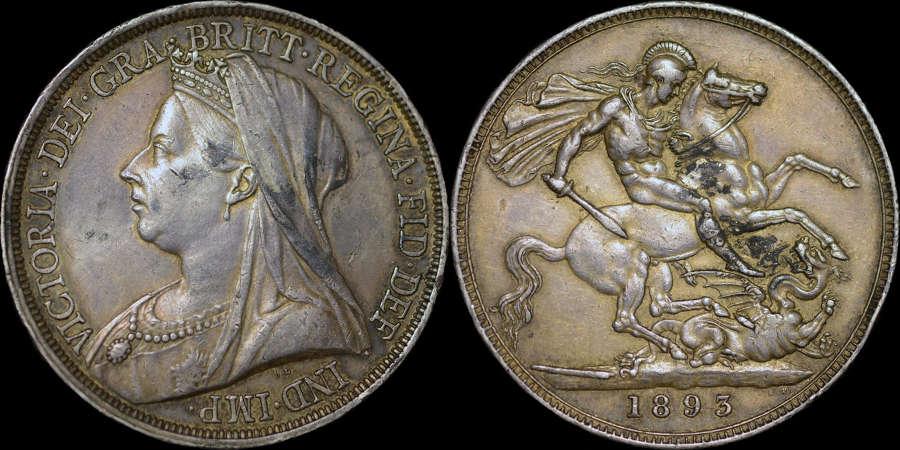VICTORIA 1893 SILVER CROWN