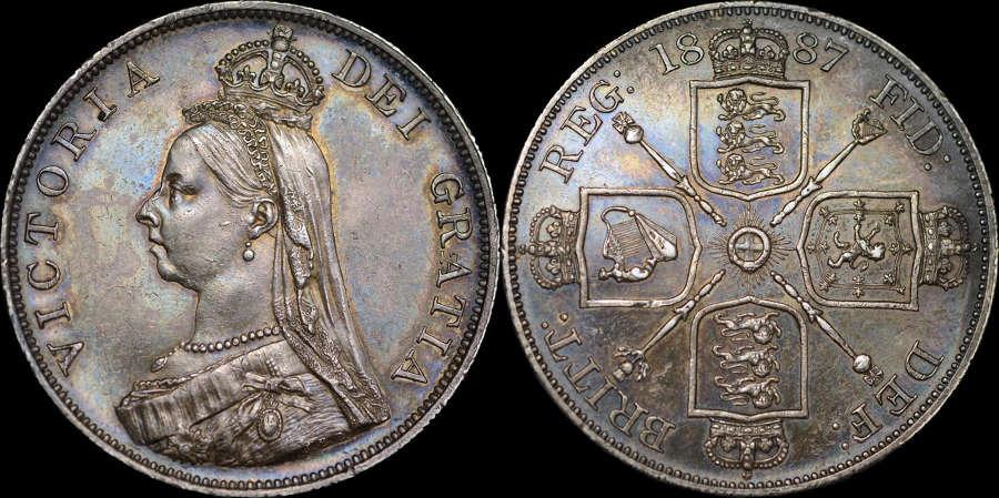 VICTORIA 1887 SILVER DOUBLE-FLORIN