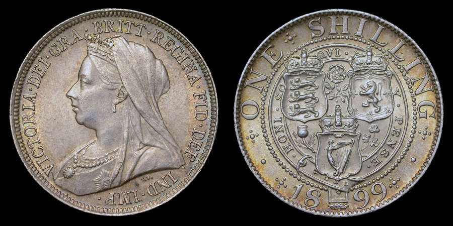 VICTORIA 1899 SILVER SHILLING