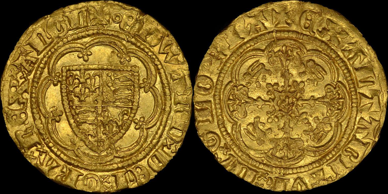 EDWARD III GOLD QUARTER-NOBLE, TREATY PERIOD