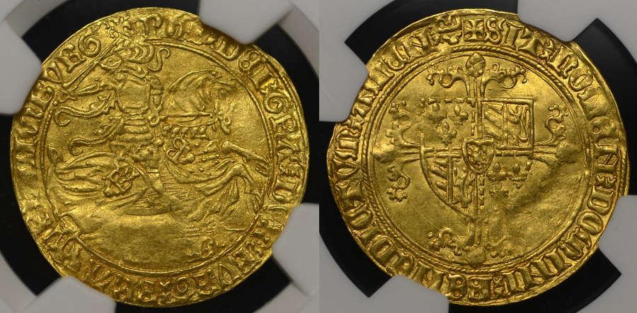 BELGIUM BRABANT, PHILIP THE GOOD GOLD CAVALIER d' OR, MS61