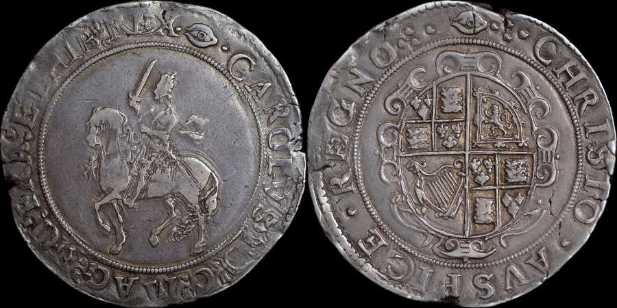 CHARLES I CROWN UNDER PARLIMENT