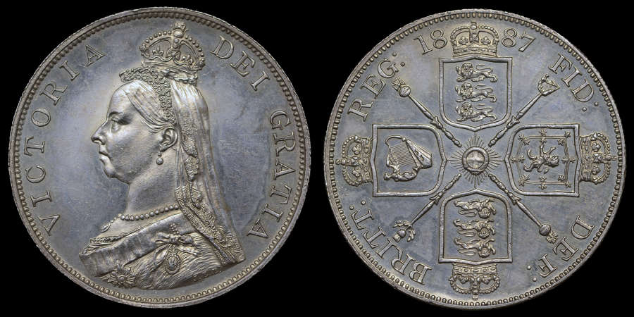 VICTORIA 1887 PROOF DOUBLE FLORIN