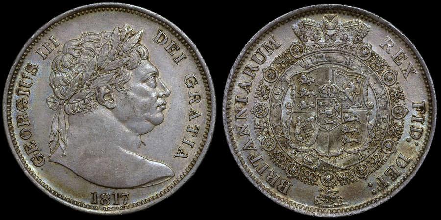 GEORGE III 1817 HALFCROWN