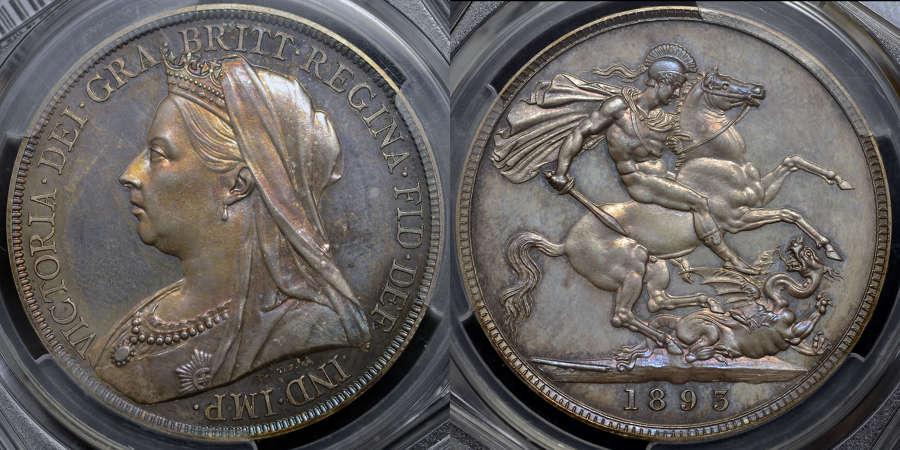 VICTORIA 1893 SILVER PROOF SET, ALL GRADED PCGS PR64