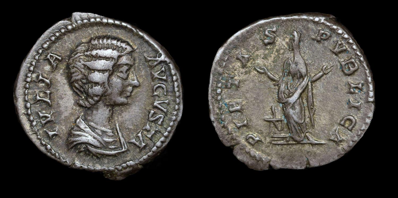 JULIA DOMNA, WIFE OF SEPTIMIUS SEVERUS, DENARIUS