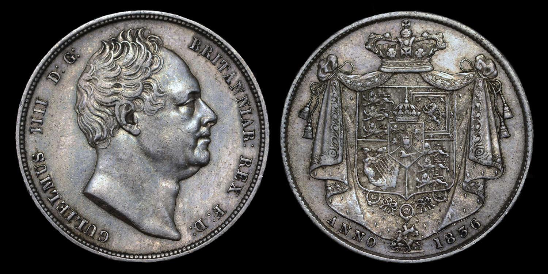 WILLIAM IV, 1836 HALF-CROWN