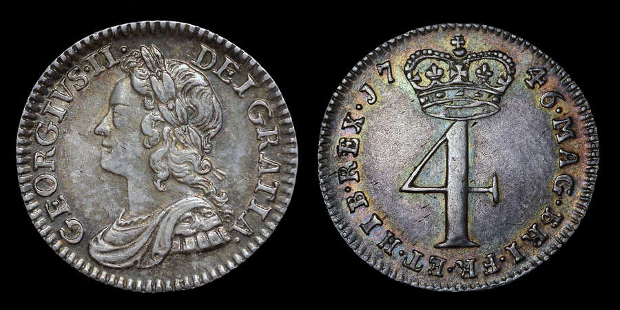 GEORGE 11, 1746 MAUNDY SET