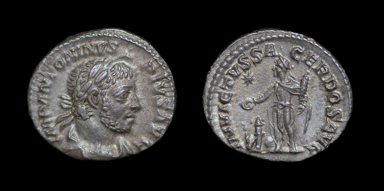 ELAGABALUS, DENARIUS
