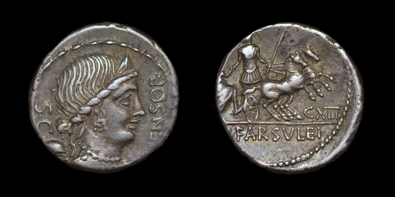 ROMAN REPUBLICAN COINAGE, L. FARSULEIUS MENSOR, DENARIUS