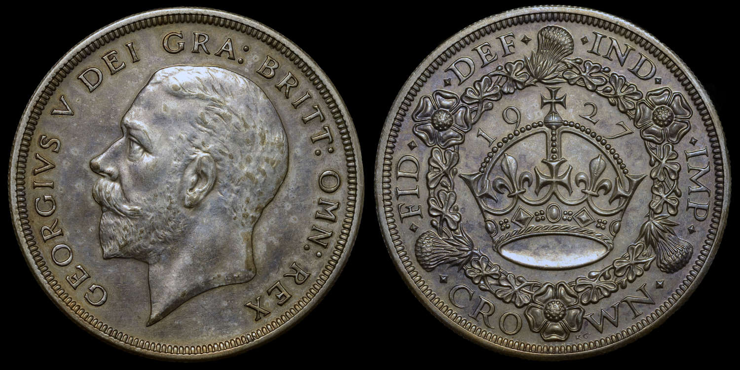 GEORGE V, 1927 PROOF CROWN