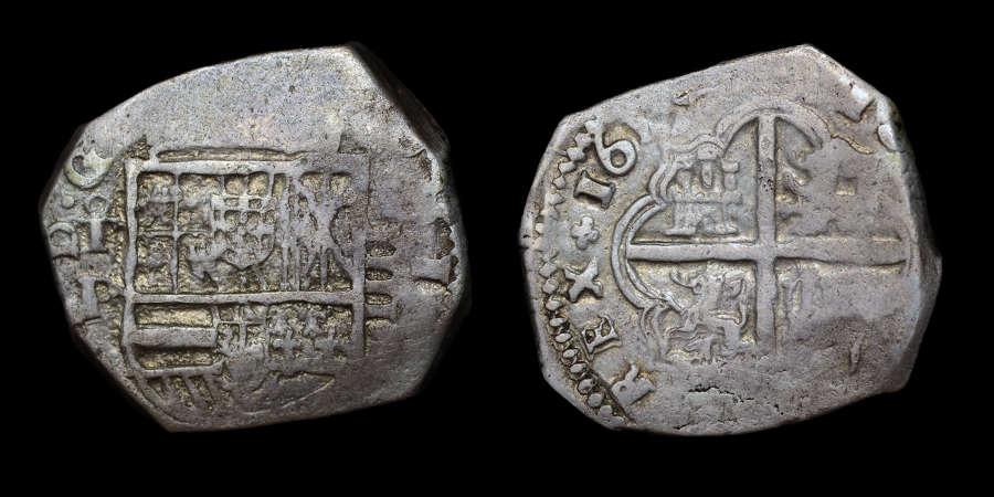 SPAIN, PHILIP III 1617 4 REALES TOLEDO MINT