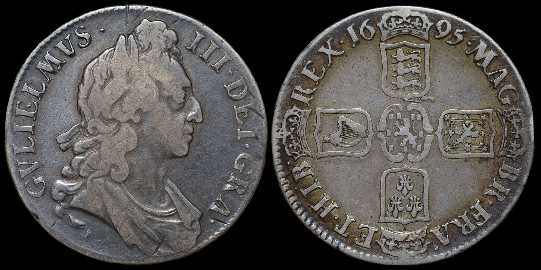 WILLIAM III 1695 CROWN