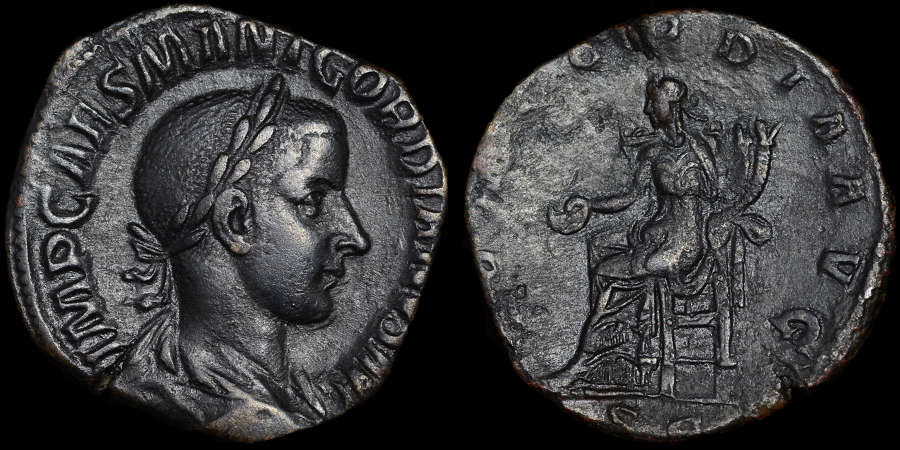 GORDIAN III SESTERTIUS