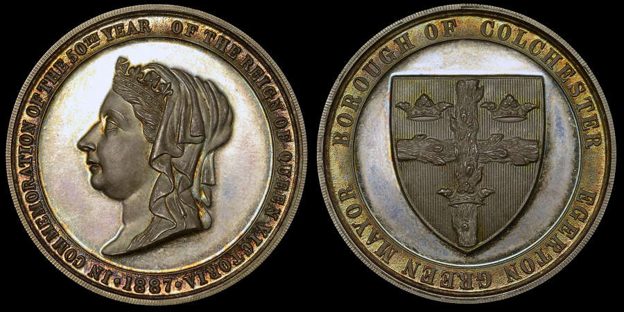 VICTORIA, GOLDEN JUBILEE SILVER MEDAL, 1887