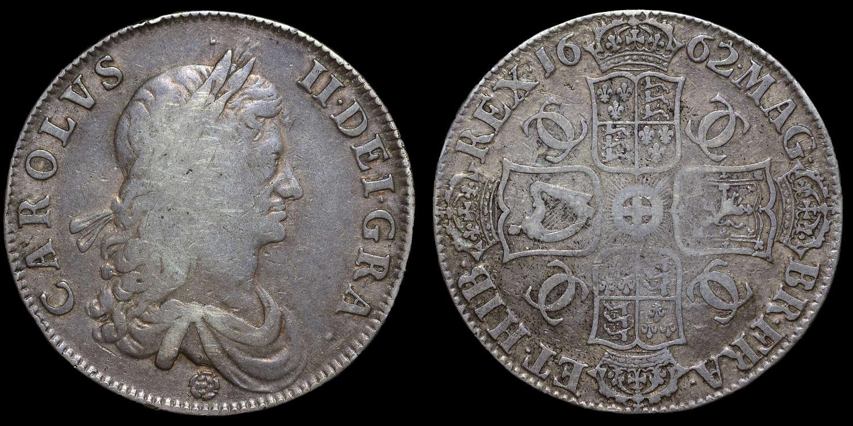 CHARLES II 1662 CROWN