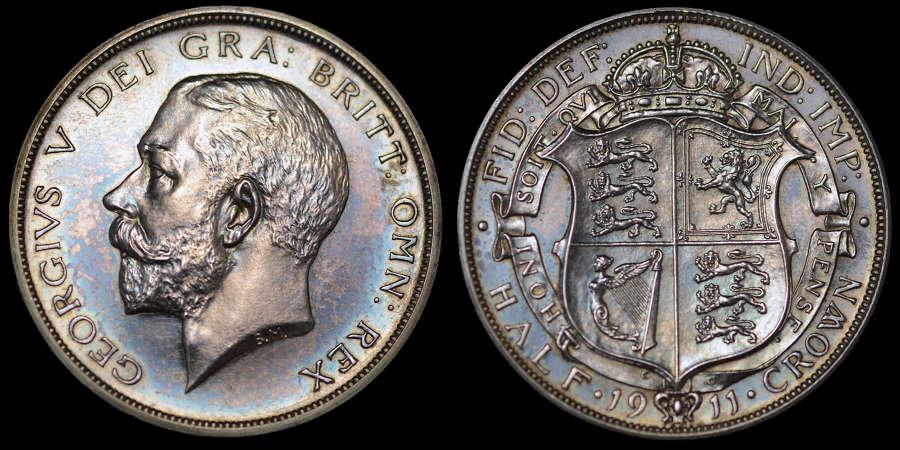 GEORGE V 1911 PROOF SILVER SET