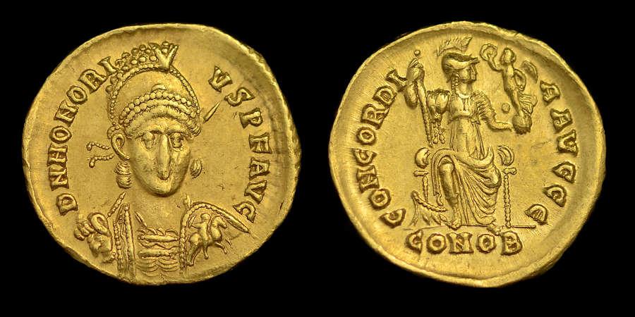 HONORIUS GOLD SOLIDUS