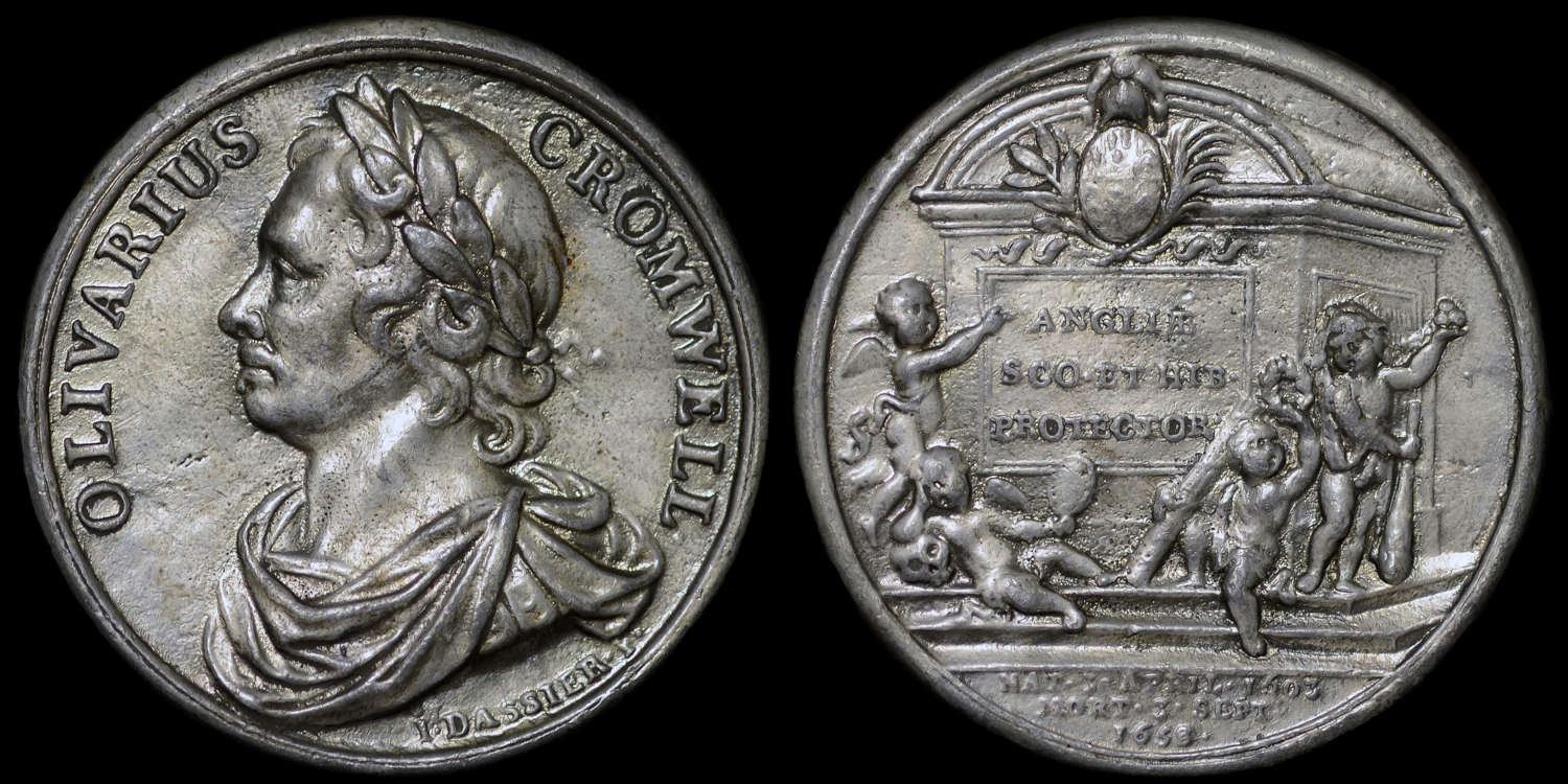 OLIVER CROMWELL MEDAL BY DASSIER