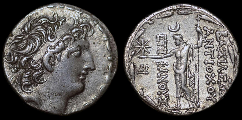 SELEUCID  KINGDOM, ANTIOCHOS VIII, SILVER TETRADRACHM