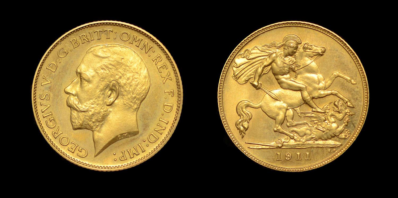 GEORGE V 1911 PROOF GOLD HALF-SOVEREIGN PF 66+