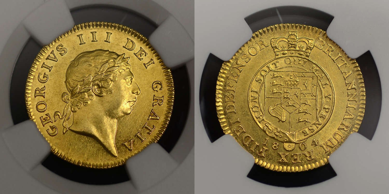 GEORGE III 1804 GOLD HALF GUINEA