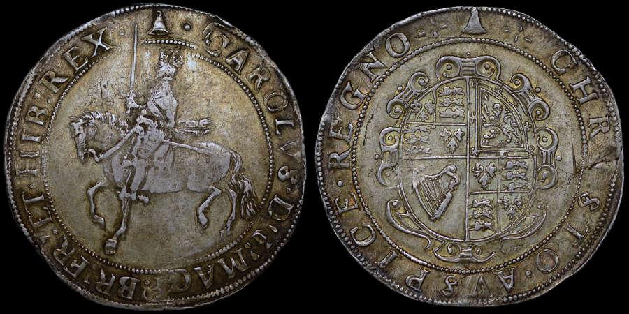 CHARLES I SILVER CROWN, EX. ARCHBISHOP SHARP COLLECTION