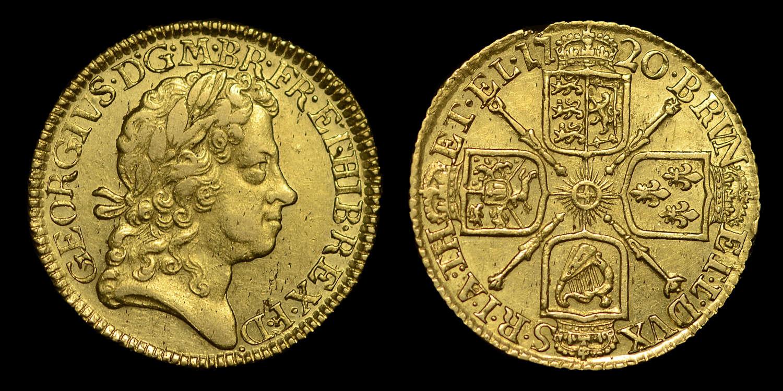 GEORGE I 1720 GOLD GUINEA