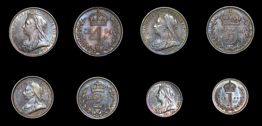 VICTORIA 1894 MAUNDY SET