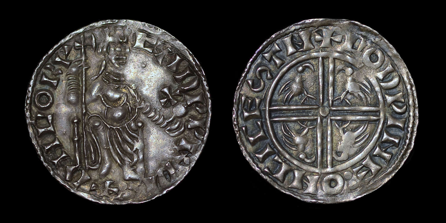 EDWARD THE CONFESSORSOVEREIGN/EAGLE TYPE PENNY, CHICHESTER MINT