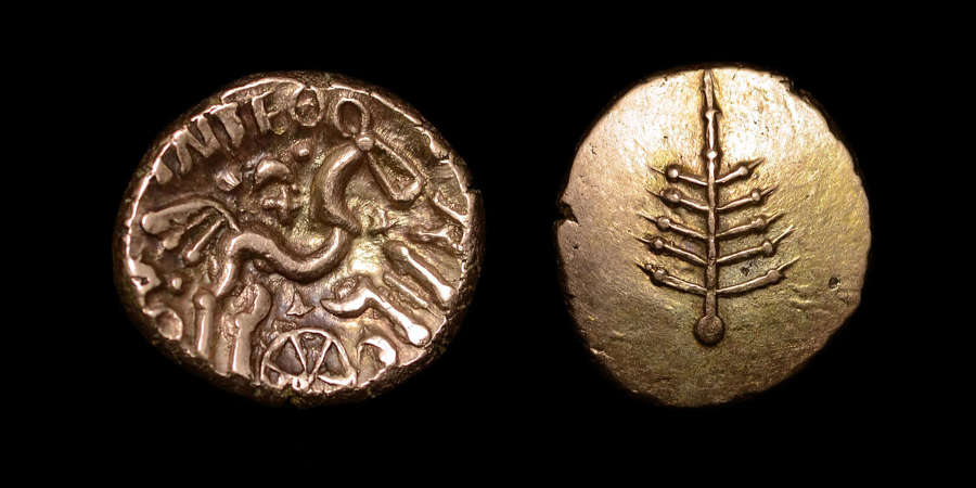 CELTIC COINAGE, DOBUNNI ANTED, GOLD STATER