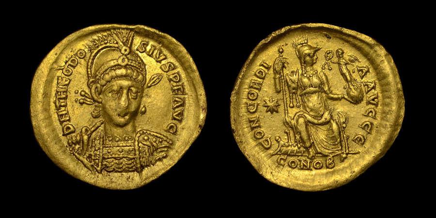THEODOSIUS II GOLD SOLIDUS