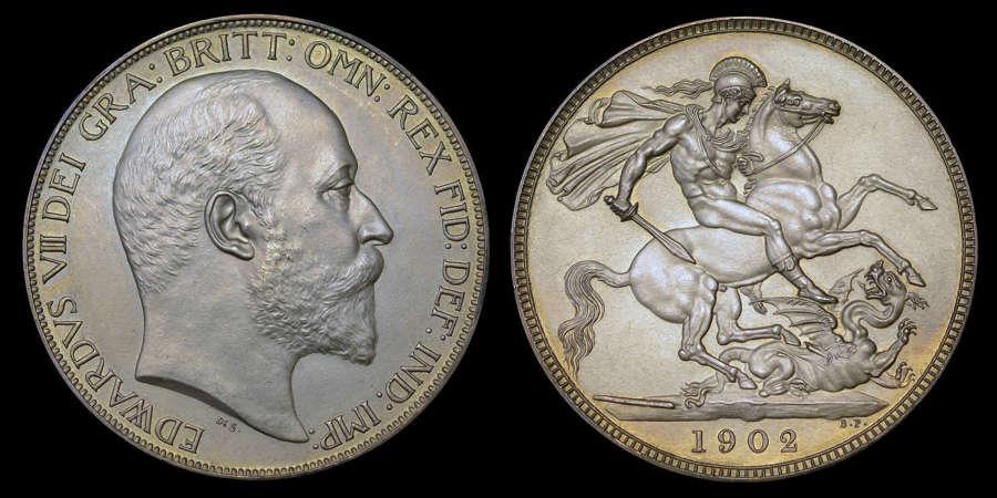 EDWARD VII 1902 MATT PROOF CROWN