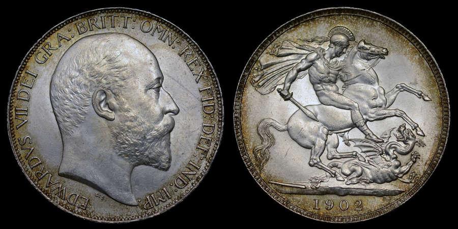 EDWARD VII 1902 SILVER CROWN
