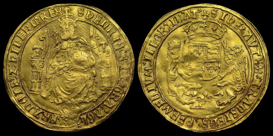 HENRY VIII GOLD HAMMERED SOVEREIGN, SOUTHWARK MINT, EX. CLARENDON
